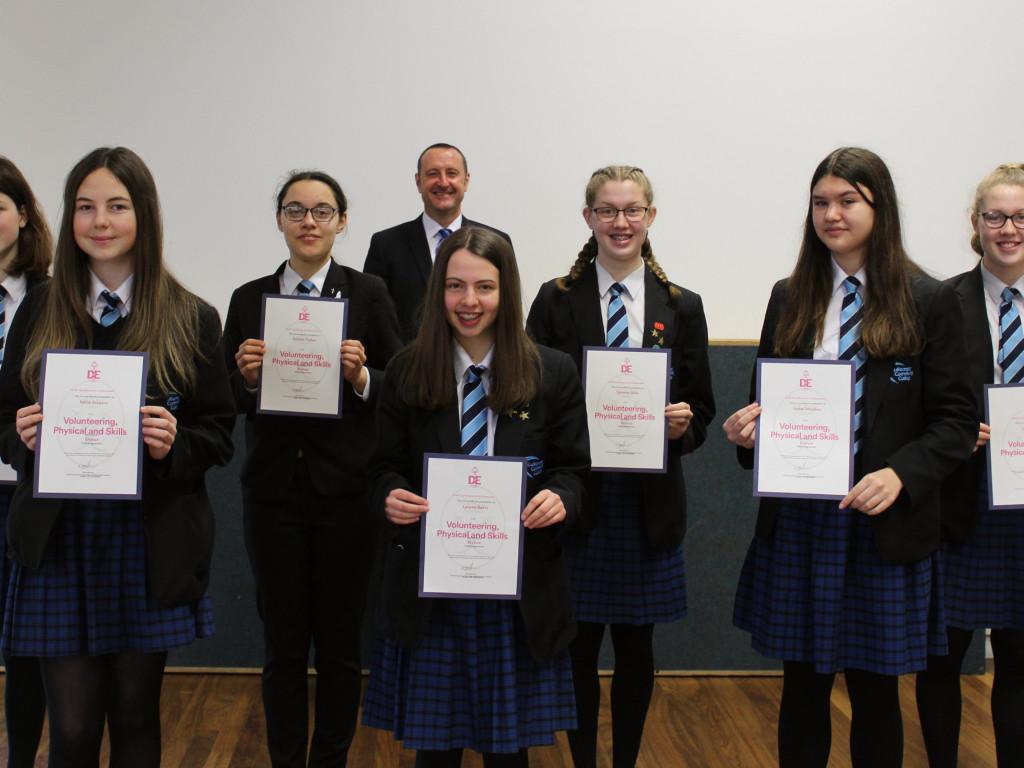 Duke of Edinburgh's Award- Certificate of Achievement